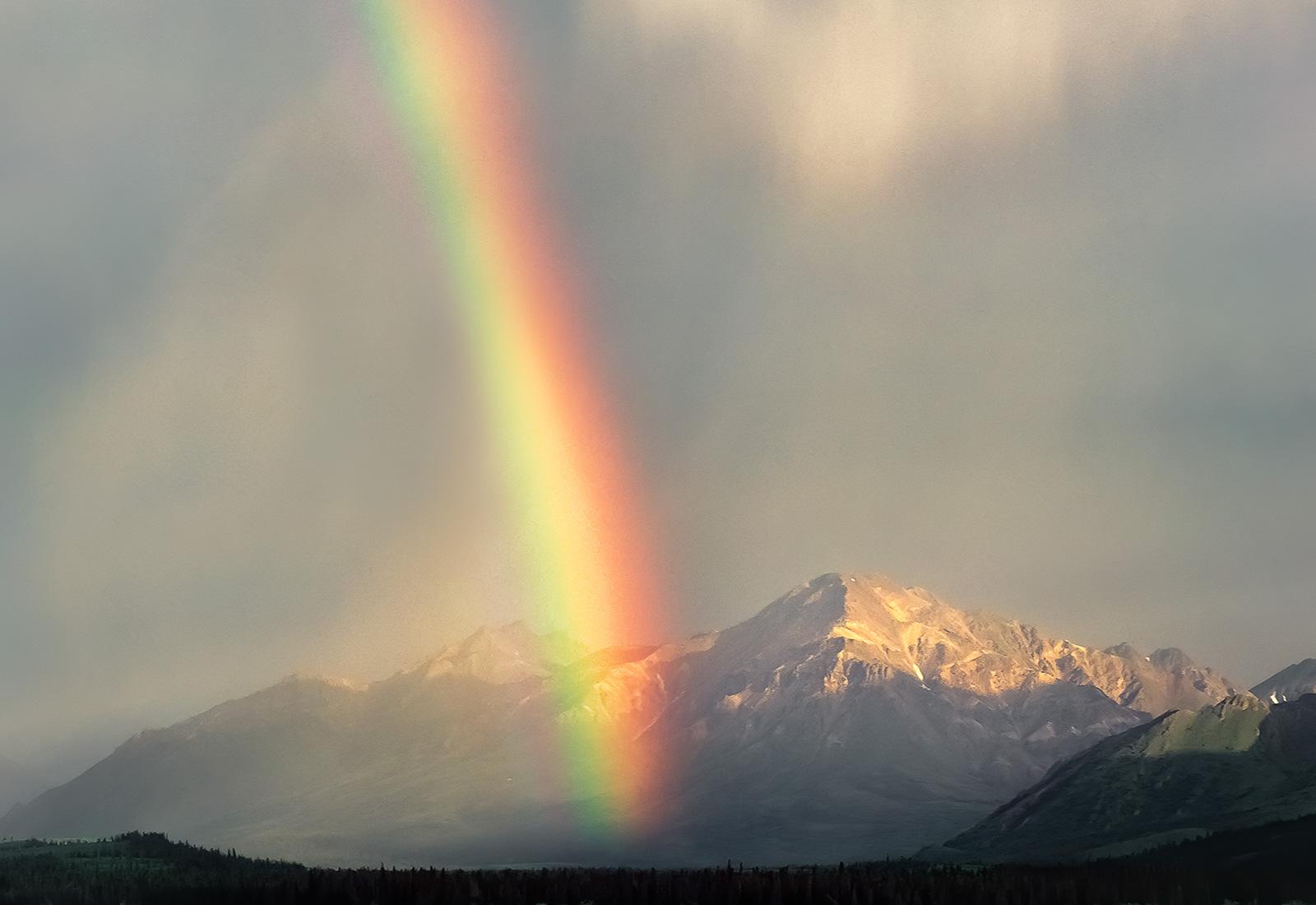 Rainbow, Teklanika River, Denali National Park, Alaska