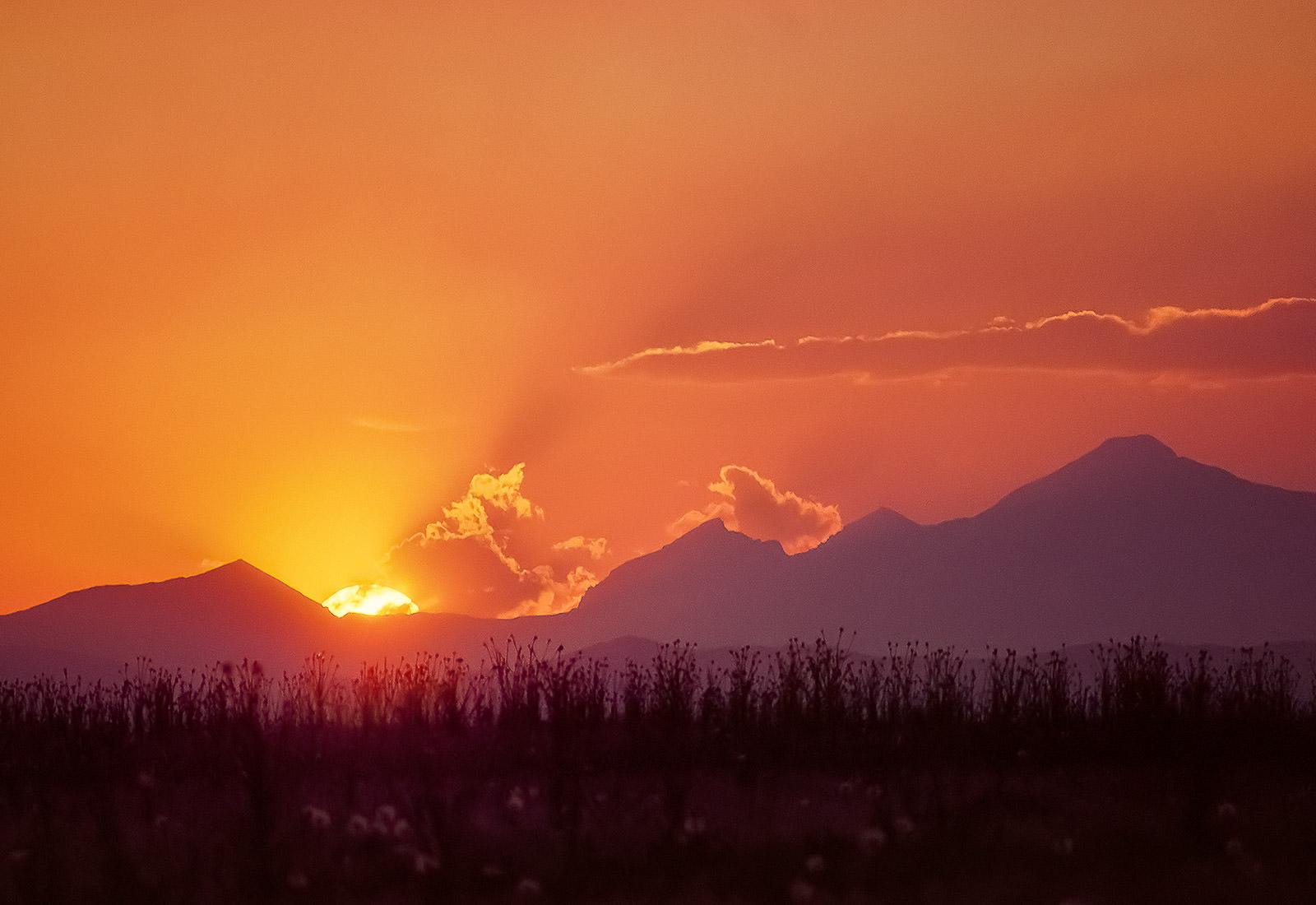 Long's Peak sunset, Colorado Rocky Mountains