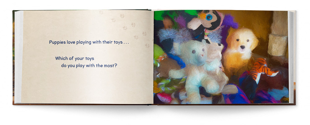 Puppies Love Children's Book featuring Trog's Dogs - Pages 06 and 07