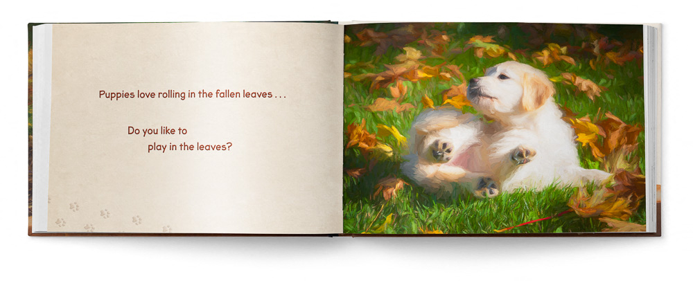 Puppies Love Children's Book featuring Trog's Dogs - Pages 12 and 13