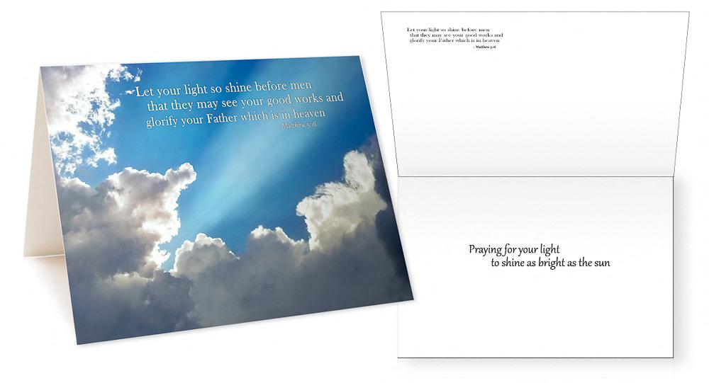 Scriptures in Pictures Verses II Greeting Card