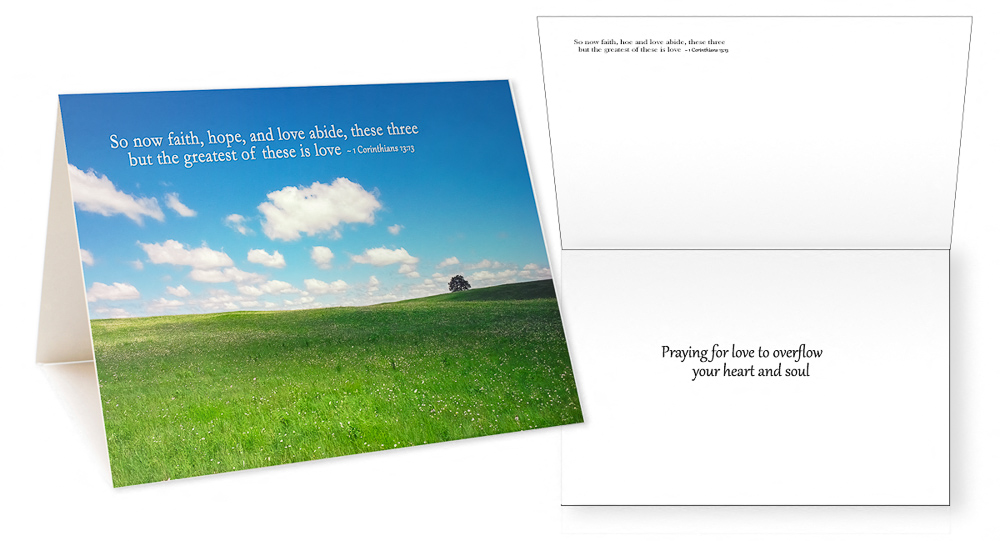 Scriptures in Pictures Verses IV Greeting Card