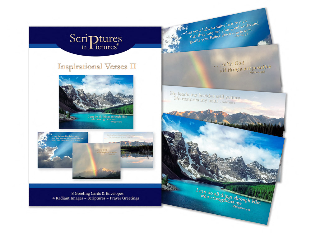 Scriptures in Pictures Verses II Greeting Cards