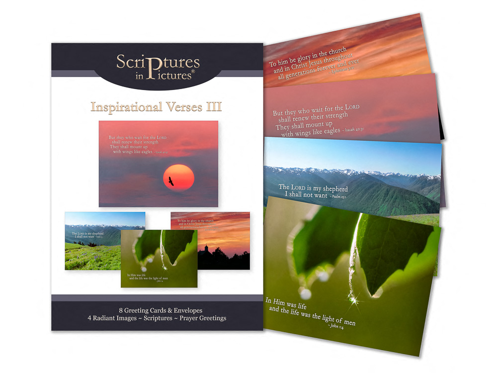 Scriptures in Pictures Verses III Greeting Cards