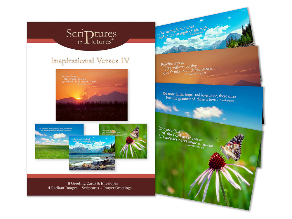 Scriptures in Pictures Verses IV Greeting Cards