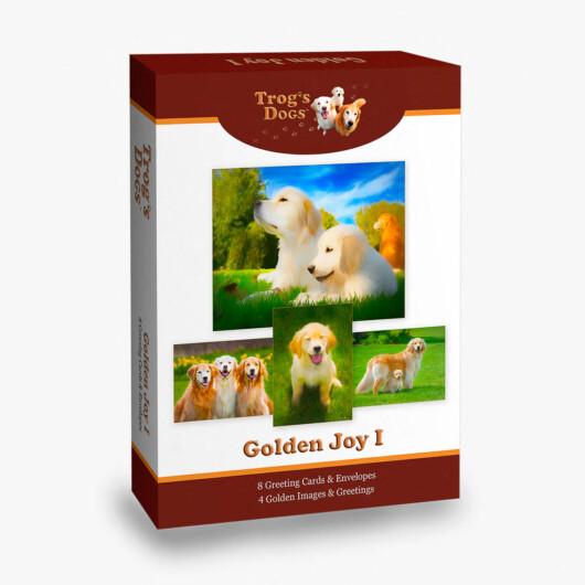 Trog's Dogs Golden Joy I Greeting Cards