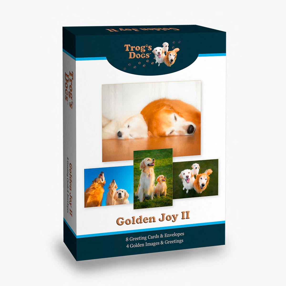 Trog's Dogs Golden Joy II Greeting Cards